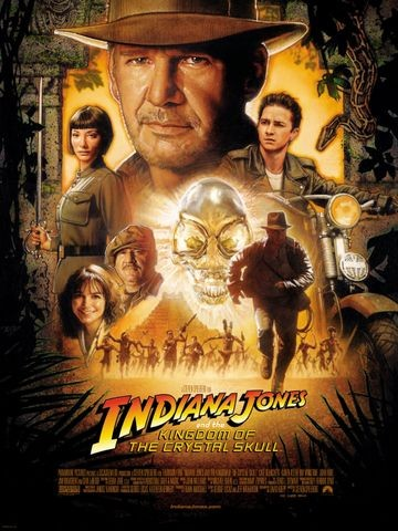 Poster for Indiana Jones and the Kingdom of the Crystal Skull (2008)