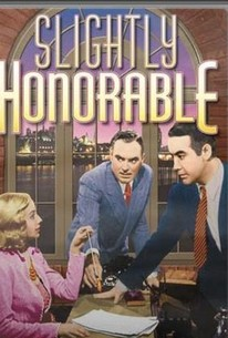 Poster for Slightly Honourable (1940)