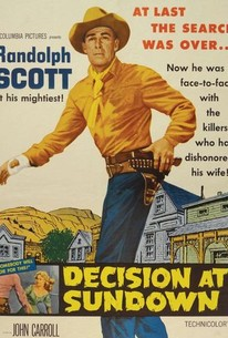 Poster for Decision at Sundown (1957)